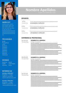 Curriculum Vitae en Word: plantillas, formatos y ejemplos